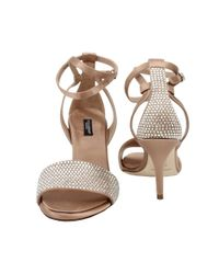 Dolce & Gabbana | Natural Strass Toe Evening Sandal | Lyst