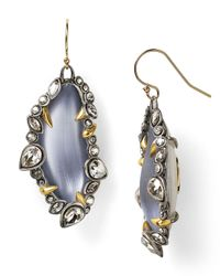 Alexis Bittar - Blue Lucite Jagged Edge Crystal Framed Dangle Wire Earrings - Lyst