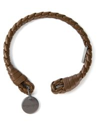 Bottega Veneta | Brown Woven Rigid Bracelet for Men | Lyst