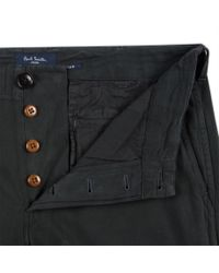 Paul Smith   Men's Dark Green Cotton And Wool-blend Brushed-twill Trousers for Men   Lyst