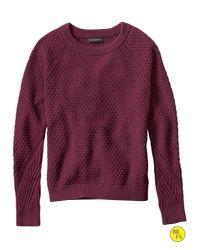 Banana Republic | Factory Textured Crew-neck Sweater | Lyst