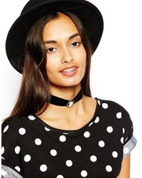 ASOS - Black Cameo Choker Necklace - Lyst