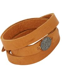 Feathered Soul - Brown Unbreakable Disc & Leather Wrap Bracelet - Lyst