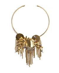 Lizzie Fortunato | Metallic Crystal Palace Necklace / Pin | Lyst