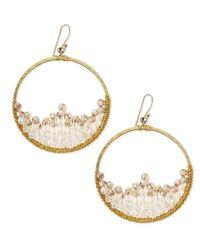 Nakamol | Metallic Crescent Beaded Hoop Earrings | Lyst