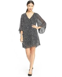 Alice + Olivia - Black 'shary' Sheer Sequin Tunic Dress - Lyst