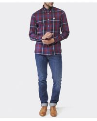 Fred Perry - Blue Large Check Shirt for Men - Lyst