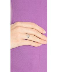 Aurelie Bidermann | Metallic Mini Clover Ring - Silver | Lyst