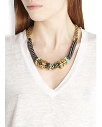 John & Pearl - Metallic Gold Plated Swarovski Rope Necklace - Lyst