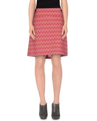Vero Moda - Pink Knee Length Skirt - Lyst