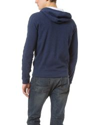 Vince | Blue Jersey Lined Zip Hoodie for Men | Lyst