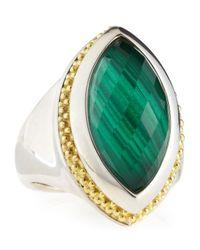 Lagos - Metallic Passion Malachite Ring - Lyst