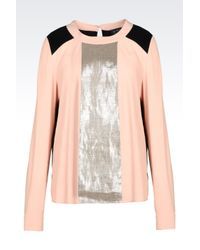 Armani Jeans | Pink Blouse In Viscose Crêpe | Lyst