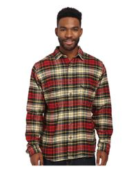 Woolrich | Black Oxbow Bend Flannel Shirt for Men | Lyst