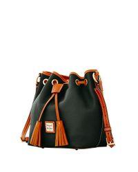 Dooney & Bourke - Black Kendall Leather Crossbody Bucket Bag - Lyst