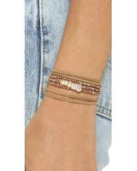Pascale Monvoisin - Metallic Clemence Wrap Bracelet - Moonstone/Gold/Silver/Bronze - Lyst