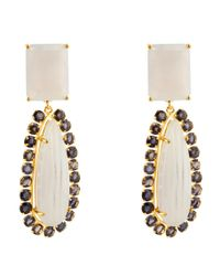 Bounkit | Metallic Chalcedony And Iolite Drops | Lyst