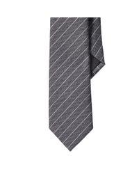 Ralph Lauren Black Label - Gray Striped Wool-silk Narrow Tie for Men - Lyst