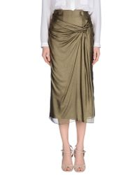 Burberry | Green 3/4 Length Skirt | Lyst
