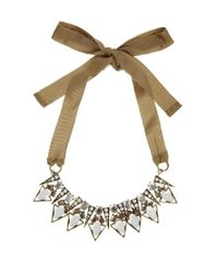 Mango | Metallic Mixed Stones Triangles Statement Collar | Lyst