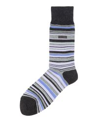 Calvin Klein - Purple Stripe Trainer Socks for Men - Lyst