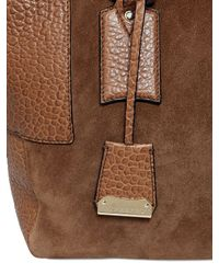 Burberry - Brown Callaghan Suede Embossed Leather Bag - Lyst