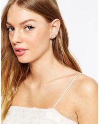 Oasis - Pink Faux Pearl Flower Hoop Multipack Earrings - Lyst