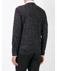 Etro - Gray Paisley Print Sweater for Men - Lyst