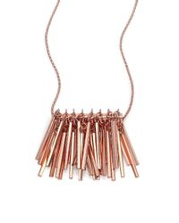 Eddie Borgo - Pink Bar Fringe Pendant Necklace - Lyst