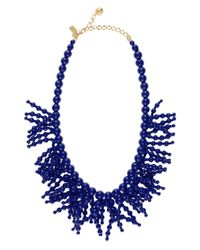 kate spade new york - Blue Fringe Appeal Necklace - Lyst