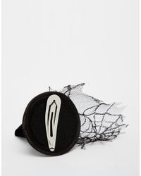 ASOS - Black Halloween Witches Hat Hair Clip - Lyst