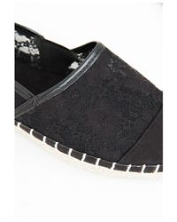 Missguided | Lace Espadrille Black | Lyst