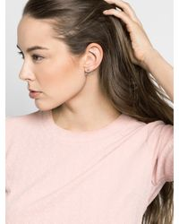 BaubleBar - Metallic Crystal Club Ear Jackets - Lyst
