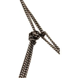 Ann Demeulemeester - Black Fringed Chain Necklace - Lyst