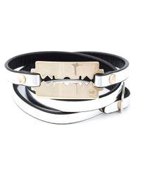 McQ | Metallic Razor Blade Triple Wrap Bracelet | Lyst