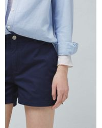 Mango | Blue Cotton-blend Shorts | Lyst