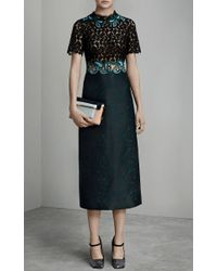 Mary Katrantzou - Multicolor Lamur Paisley And Lace Midi Dress - Lyst