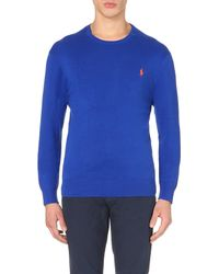 Pink Pony | Blue Logo-embroidered Cotton-jersey Top for Men | Lyst