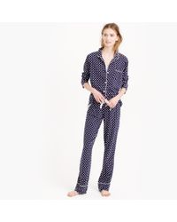 J.Crew - Blue Dreamy Cotton Pajama Set In Dot - Lyst