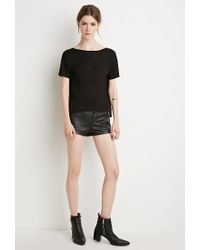 Forever 21 | Black Contemporary Scoop-back Tee | Lyst