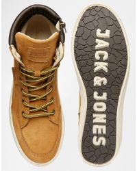 Jack & Jones | Brown Monton Leather Boots for Men | Lyst