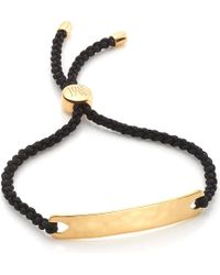 Monica Vinader - Black Havana 18ct Gold-plated Friendship Bracelet - Lyst