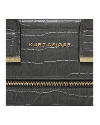 Kurt Geiger - Gray Croc Bea Tote Bag - Lyst