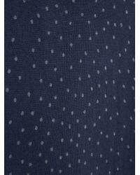 Mango - Blue Polka-dot Jersey Dress - Lyst