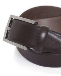 BOSS Black - Brown Leather C-barney Belt for Men - Lyst