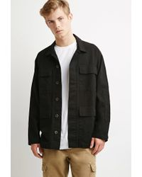 Forever 21 | Black Classic Utility Jacket for Men | Lyst