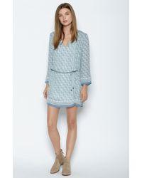 Joie - Blue Chastain Silk Dress - Lyst