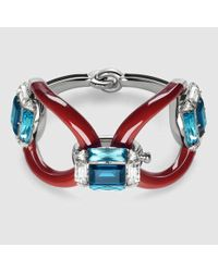 Gucci - Blue Bracelet With Swarovski Crystals - Lyst
