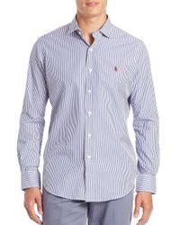 Polo Ralph Lauren - Blue Striped Sportshirt for Men - Lyst