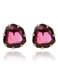 Annoushka - Pink Garnet Shard Stud Earrings - Lyst